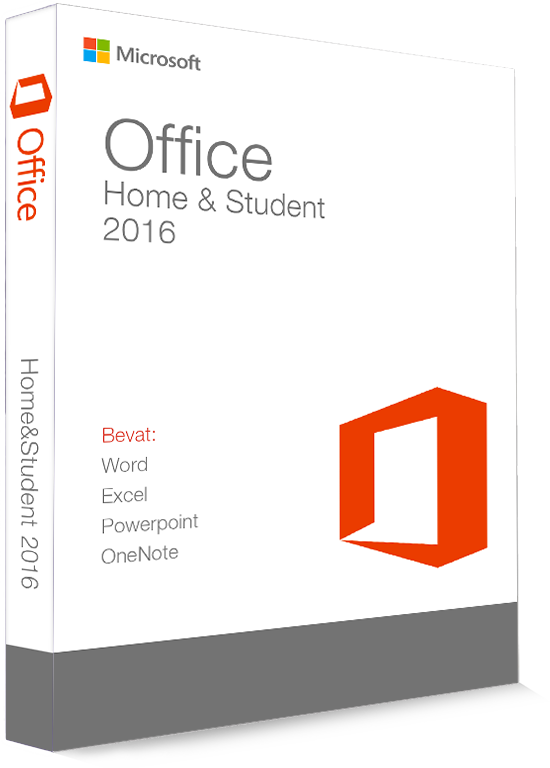 Microsoft Office 2016 Home & Student 32/64 Bit - Productcode (Key)