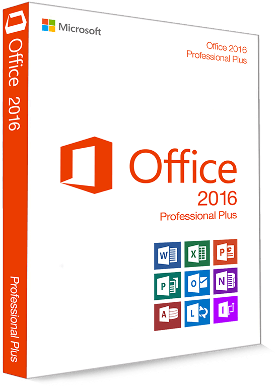 Microsoft Office 2016 Professional Plus 32/64 Bit - Productcode (Key)