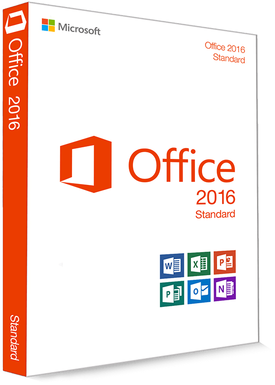 Microsoft Office 2016 Standard 32/64 Bit (Home & Business) - Productcode (Key)