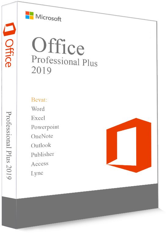 Microsoft Office 2019 Professional Plus 32/64 Bit - Productcode (Key)